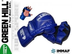MMA Rękawice startowe Green Hill Blue - approved IMMAF