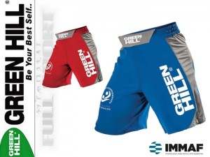 MMA Spodenki startowe Green Hill - approved IMMAF